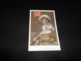 """Enfant . Garçonnet Avec Lunettes  Et Pipe . """" Comme Papa """" Photo Walery. ( Tabac) - Cartes Postales"""