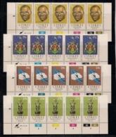 CISKEI, 1981, MNH Control Blocks Stamps, Independence, M 1-4 - Ciskei