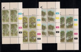 CISKEI, 1984, MNH Control Block Stamps, Indigenous Trees, M 52-55 - Ciskei