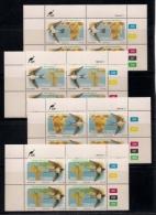 CISKEI, 1984, MNH Control Block Stamps, Migratory Birds, M 61-64 - Ciskei