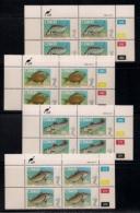 CISKEI, 1985, MNH Control Block Stamps, Coastal Angling, M 70-73 - Ciskei