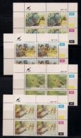 CISKEI, 1987, MNH Control Block Stamps, Folk Law,  M 123-126 - Ciskei