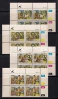 CISKEI, 1990, MNH Control Block Stamps, Folklore,  M 166-169 - Ciskei