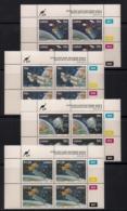 CISKEI, 1992, MNH Control Block Stamps, Satellites,  M 215-218 - Ciskei