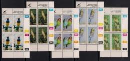 CISKEI, 1993, MNH Control Block Stamps, Cage And Aviary Birds,  M 233-237 - Ciskei