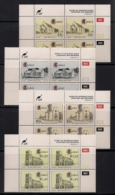 CISKEI, 1993, MNH Control Block Stamps, Churches And Missions,  M 238-241 - Ciskei