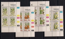 CISKEI, 1993, MNH Control Block Stamps, Invader Plants,  M 242-245 - Ciskei
