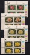 CISKEI, 1994, MNH Control Block Stamps, Roses,  M 251-254 - Ciskei