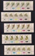 CISKEI, 1981, MNH Control Strips Stamps, Definitives Birds ,  M 5-21 - Ciskei
