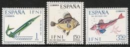 IFNI-1967-ED. 230 A 232 COMPLETA-DIA DEL SELLO. PECES-NUEVO SIN FIJASELLOS - Ifni