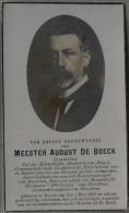 Bidprentje Doodsprentje Meester August De Boeck Merchtem 1865 - 1937 Toondichter - Santini