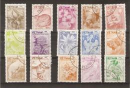 Viet-Nam - Faune Et Flore - Série Complète De 15 TIMBRES - 1984 - Viêt-Nam