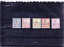 MAROC  : Y&T :  TT  18* à 22* - Maroc (1891-1956)