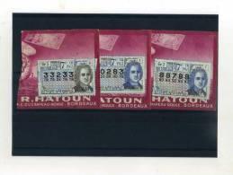 - FRAGMENTS DE BILLETS DE LOTERIE NATIONALE 1963 - Lotterielose