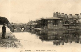 Amiens Le Port D Amont Carte Peu Courante - Amiens