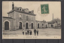 24 - Mussidan -  La Gare   - Animée - Mussidan