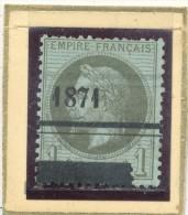 N°25 OBLITERATION TYPOGRAPHIQUE. - 1863-1870 Napoleone III Con Gli Allori
