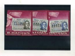 - FRANCE . FRAGMENTS DE BILLETS DE LOTERIE NATIONALE 1963 - Lotterielose