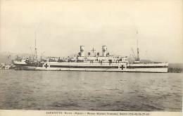Ref H344- Bateaux -croix Rouge -guerre 1914-18- Navire Hopital Lafayette -marine Militaire Francaise -carte Bon Etat  - - Non Classés