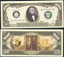 Billet de collection USA P-12 President Taylor Dollars Paper Money Collector unc