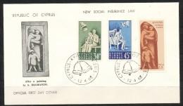 Zypern     Mi.Nr.    250 - 252      -     FDC - Zypern (Republik)