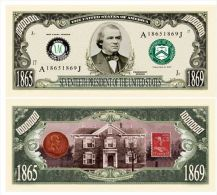 Billet de collection USA P-17 President Johnson Million Dollars Paper Money Collector unc