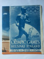 OLD  VINTAGE    PROGRAM   OLYMPIC GAMES  HELSINKI FINLAND 1952. - Programmes
