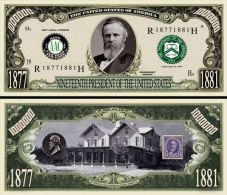 Billet de collection USA P-19 President Hayes Million Dollars Paper Money Collector unc