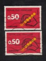 Variétés (o) 1720 * Code Postal Et Postes 1972 Impression Grasse * Variété Code Postal, Les 2 - Curiosidades: 1970-79 Usados