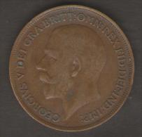 GREAT BRITAIN / GRAN BRETAGNA - GEORGE V - 1 PENNY ( 1915 ) - 1902-1971 : Monete Post-Vittoriane