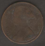 GRAN BRETAGNA 1 PENNY 1862 - 1816-1901 : Coniature XIX° S.
