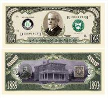 Billet de collection USA P-23 President Harrison Million Dollars Paper Money Collector unc