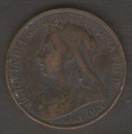 GRAN BRETAGNA 1 PENNY 1898 - 1816-1901 : Coniature XIX° S.