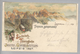 AK De He LEIPZIG Messe 1897-07-08 Litho L.Glas Tiroler Bergfahrt - Leipzig