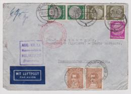 DR 1937-11-23 Helmstedt Zeppelin-Brief Nach Buenos Aires Argentinien - Deutschland