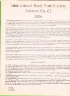 IBNS Auction #62 - 2006 - Billets