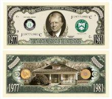 Billet de collection USA P-39 President Carter Million Dollars Paper Money Collector unc