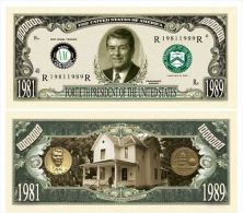 Billet de collection USA P-40 President Reagan Million Dollars Paper Money Collector unc