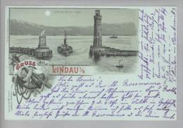 AK De Bay Linau Im Bodensee 1899-02-10 Litho L.Glaser - Lindau A. Bodensee