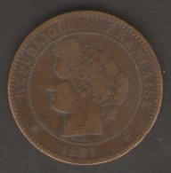 FRANCIA 10 CENTIMES 1891 - Francia