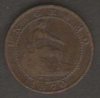 SPAGNA 1 CENTIMO 1870 - [ 1] …-1931 : Regno