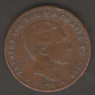 SPAGNA 10 CENTIMOS 1878 - [ 1] …-1931 : Regno