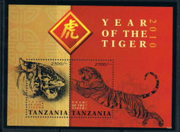 Tanzania 2010 Chinese Lunar Year Of The Tiger Stamps 1MS New GY 0325 - Tansania (1964-...)