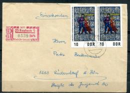 "DDR 1968 Reco,Einschreib Heimatbeleg Rostock 1 Mit Mi.Nr.1346 MeF""Rostock-Rüdersdorf  ""1 Beleg - [6] República Democrática"