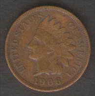 U.S.A. - STATI UNITI D' AMERICA - ONE CENT ( 1906 ) - INDIAN HEAD - Emissioni Federali