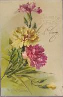 C.KLEIN-Carte Gaufrée Bouquet D'Oeillets... HEUREUSE FETE - Klein, Catharina