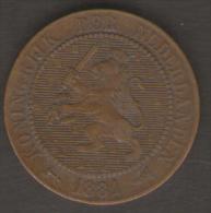 PAESI BASSI 2 1/2 CENT 1881 - [ 3] 1815-… : Regno Dei Paesi Bassi