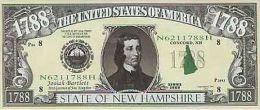 Billet de collection USA NM-101 New Hamshire State Million Dollars Paper Money Collector unc