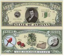 Billet de collection USA NM-105 Indiana State Million Dollars Paper Money Collector unc