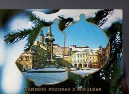 P01-356  CZECH  Weihnachtskarte,  Neujahrskarte - Gruss Aus Mikulov  CZECHOSLOWAKIA   1980 - Noël